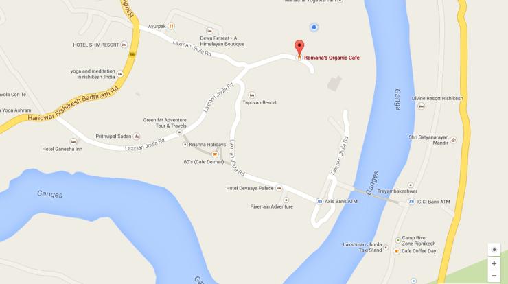 Ramana's Organic Cafe Google Map